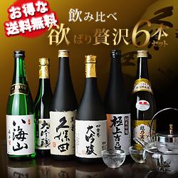 【送料無料】父の日ギフト飲み比べ欲ばり贅沢6本セット 日本酒プレゼント