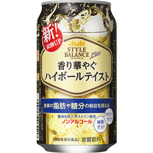 アサヒ スタイルバランスプラス 香り華やぐハイボールテイスト ノンアルコール 機能性表示食品 350ml×24缶 スピード対応 全国送料無料 1ケース 限定価格セール