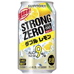 三得利楚-嗨-196 ° C 强零双柠檬 350 毫升 x 24 罐 (1 例)