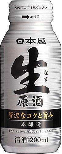 〔清酒・日本酒〕3ケースまで同梱可★日本盛 本醸造 生原酒 200mlボトル缶 1ケース30本入り
