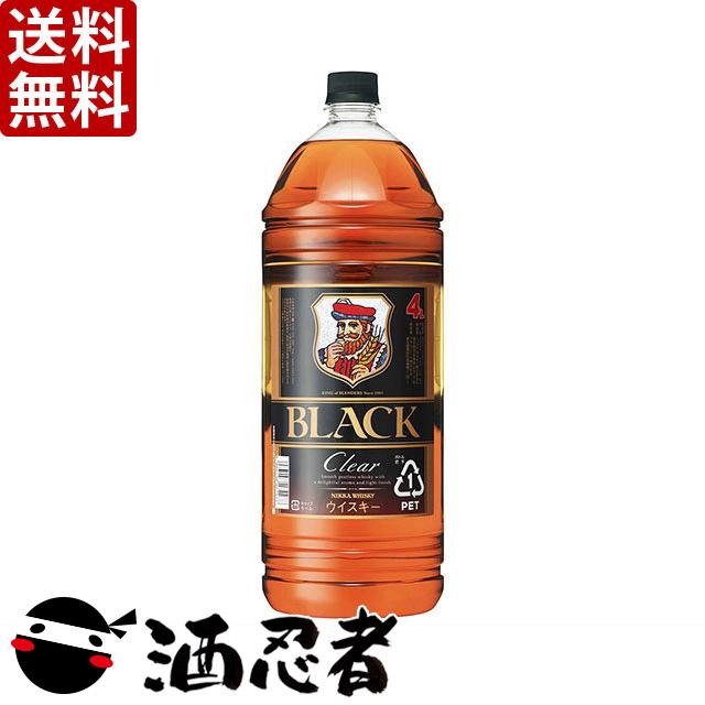 【送料無料】アサヒ ブラックニッカ クリアブレンド 37度 4000mlペット×4本(1ケース)