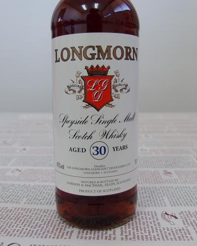 ロングモーン 30年 43度 700ml【Longmorn 30Years Gordon Macphail】