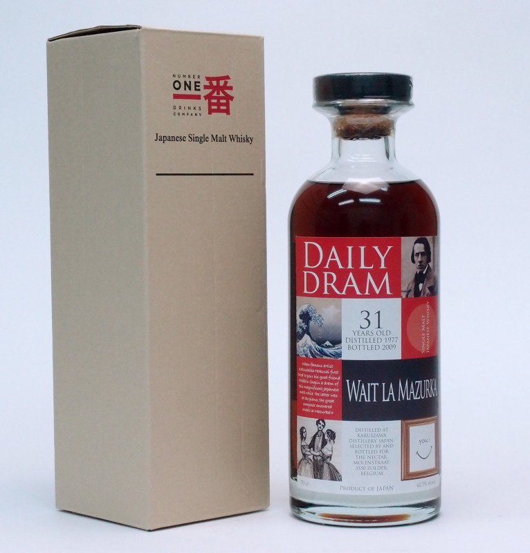 軽井沢【1977-2009】31年62.7%700ml【Daily Dram Wait La Mazurka】Japanese Single Malt Whisky【銀行振り込み決済・クレジット決済に対応】【代引き決済不可】