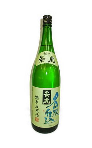 日本酒 返品交換不可 越乃景虎 名水仕込特別純米 1 日本正規代理店品 800ml