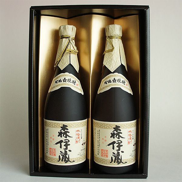 感謝 森伊蔵 感謝金蓋紙箱入 720ml 2本組 芋焼酎 日本酒飲み比べギフトセット 無料ギフト包装 MP2