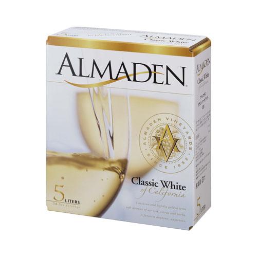 【白ワイン】カリフォルニア アルマデン・クラシック・ホワイト 5000ml×4函【辛口】【アルマデン】【フレンチ・コロンバール 他】