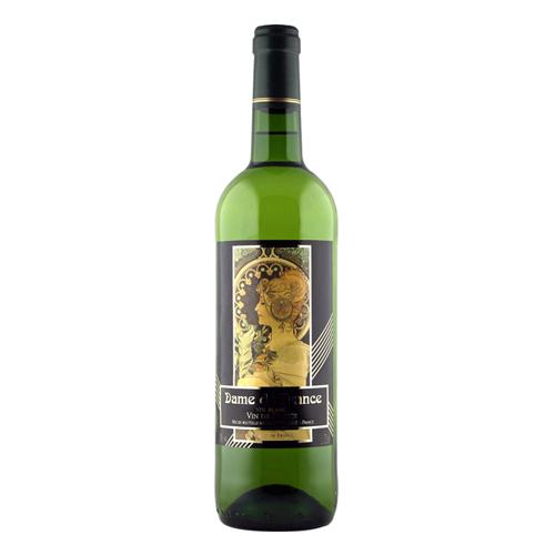 【白ワイン】フランス ダム・ド・フランス・ブラン 750ml×12本【辛口】【V.d.F.】【ジネステ】