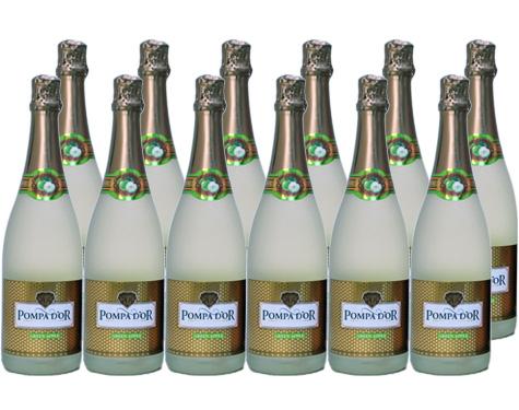 【送料無料※北海道・沖縄・離島除く】ポンパドール グリーンアップル 750ml 12本セット 【フルーツスパークリングワイン】