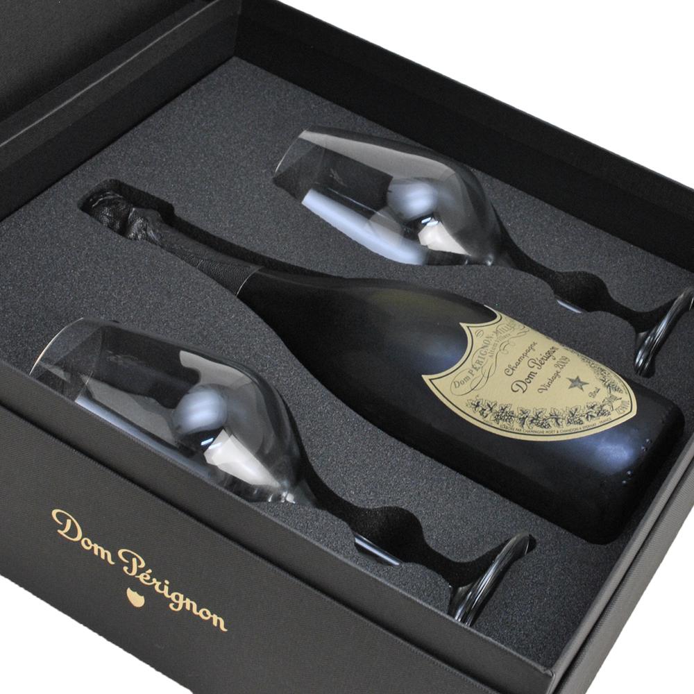 ドンペリニヨン 2009 白 オリジナルグラス2脚セット 【正規品・ギフト箱付】 750ml【あす楽対応】