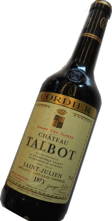 昭和48年の誕生年ワイン 1973年 シャトー・タルボ 箱入りギフトラッピング [1973] Chateau Talbot サンジュリアン格付け4級