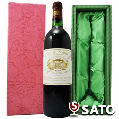 *シャトー・マルゴー [1982] 赤 750mlChateau Margaux 1982【緑ギフトBOX入り】【送料及びクール代金無料】
