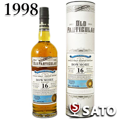 ボウモア 16年 [1998] ダグラスレイン オールドパティキュラー 48.4度 700ml[平成10年生まれの方に][記念日、お誕生日、ギフト、御祝][自分へのご褒美]