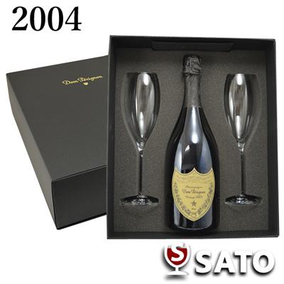 *【クール便】ドン・ペリニョン [2004]フリュートグラス付きDom Perignon 2004 (白泡)750ml