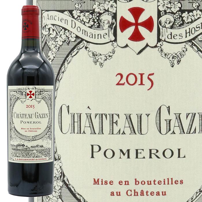 新作多数 ワインアドヴォケイト93点 2015年はメルロー95% 送料無料(一部地域を除く) シャトー ペトリュスの隣 ポムロール最上の区画に位置するシャトー ガザン ポムロール 2015