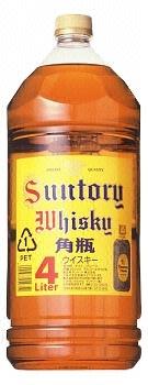 送料無料 サントリーウイスキー 角瓶4Lペット×4本
