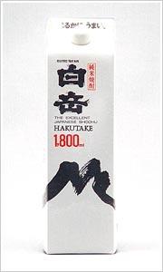 「白岳パック」米25度1800mL 6本入り1ケース
