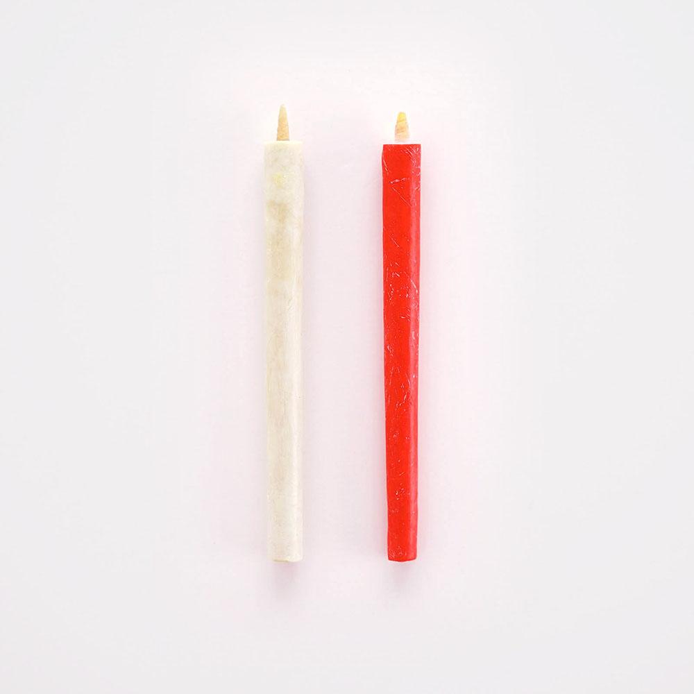 【送料無料】櫨ろうそく/4号/30本入り(白15本、赤15本)大與 DAIYO 和ろうそく 和蝋燭 ロウソク キャンドル