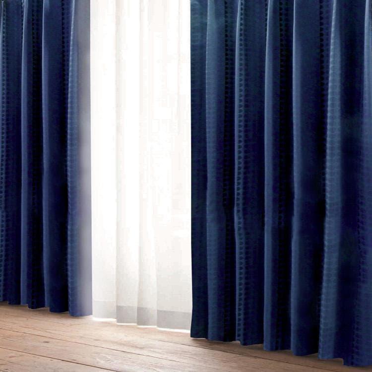 ラルゴ断熱 100X225cm ネイビー ドレープカーテン カーテン おしゃれ 新生活