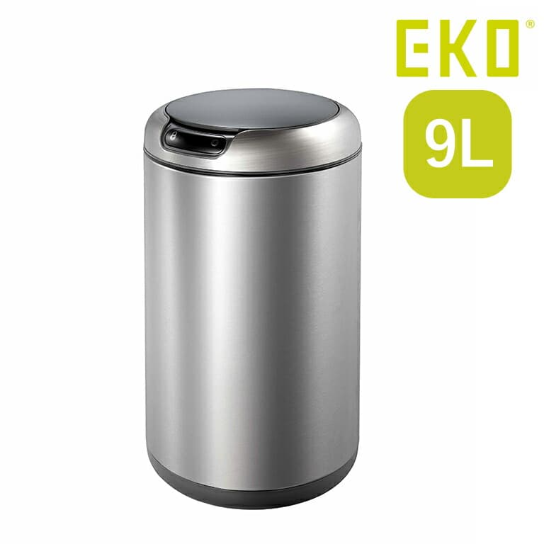 ごみ箱 EKO 蓋付 9L センサー付き 自動開閉 シルバー EKO ダストボックス ゴミ箱 ステンレス リビング ダイニング 洗面所 ふた 清潔 おしゃれ シンプル EK9255MT ガレリア センサービン MT(Web限定) EK