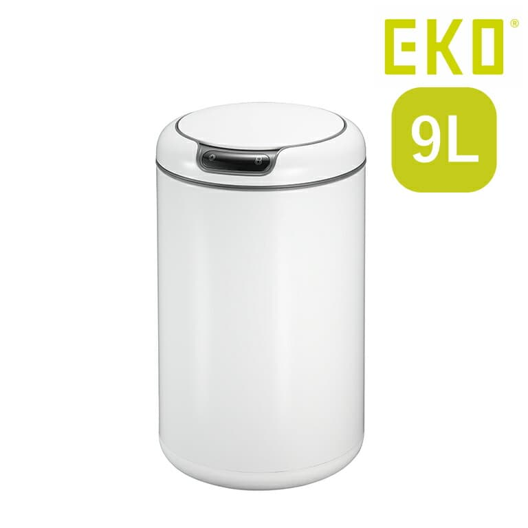 ごみ箱 EKO 蓋付 9L センサー付き 自動開閉 ホワイト EKO ダストボックス ゴミ箱 ステンレス リビング ダイニング 洗面所 ふた 清潔 おしゃれ シンプル EK9255MT ガレリア センサービン MT(Web限定) EK
