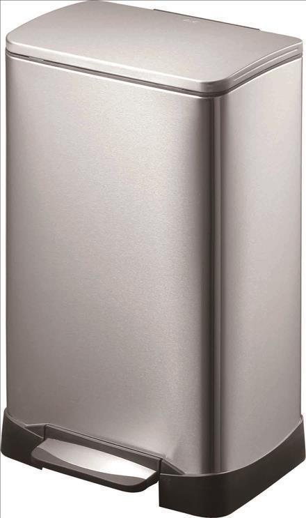 ごみ箱 EKO 蓋付 30L シルバー EKO ダストボックス ペダル付き ゴミ箱 ステンレス リビング ダイニング 洗面所 ふた 清潔 おしゃれ シンプル EK9298MT エコ ネオキューブ ステップピン MT(Web限定) EK