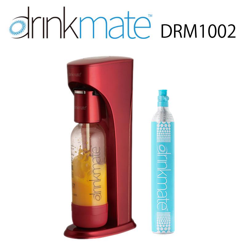 ドリンクメイト ベーシックモデル レッド スターターセット 標準タイプ DRM1002 ベーシック 炭酸水メーカー 赤 炭酸 炭酸水 作る ジュース スパークリング マグナムガスシリンダー 非対応 drinkmate  (web限定) TS KZ
