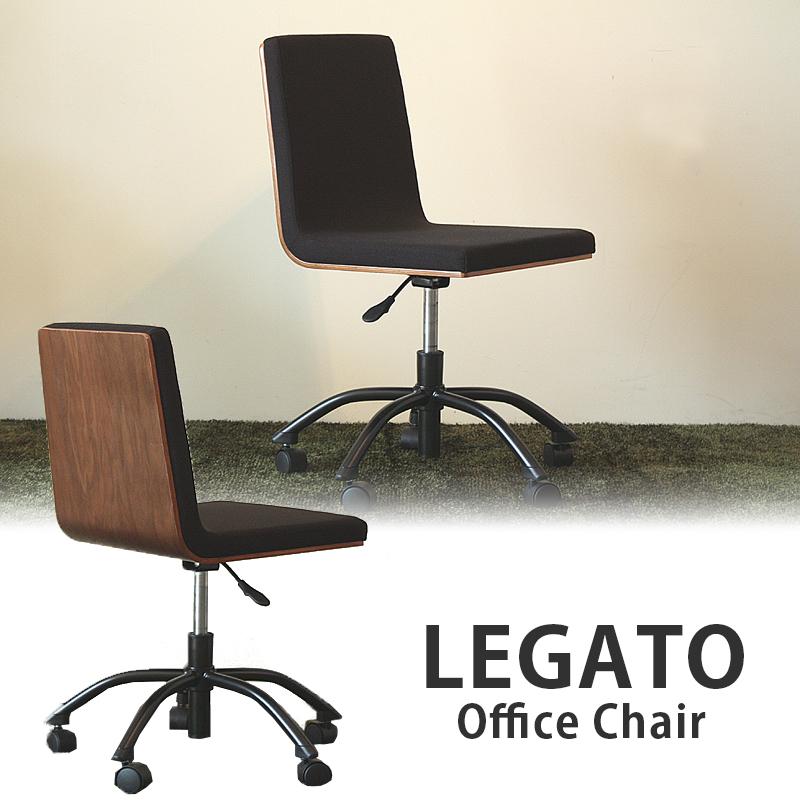 レガート オフィスチェア LEGATO 【TH-REG】 おしゃれ シンプル モダン パソコンチェア キャスター付き ウォールナット ブラック MT (Web限定)