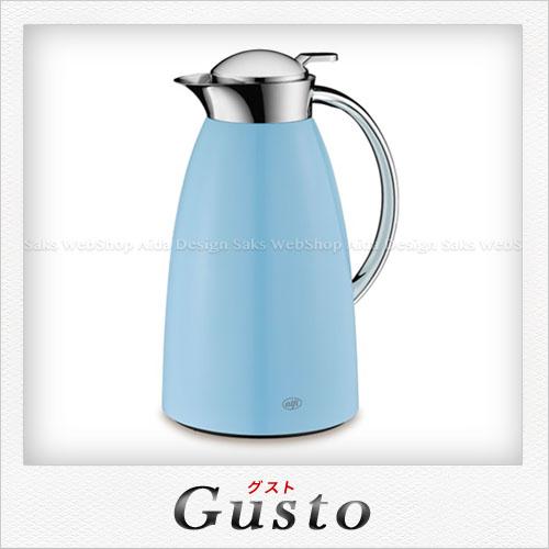 【alfi】ステンレス製 Gusto(グスト) 卓上用ポット(容量:1.0L) パウダーブルー AFTF-1000S
