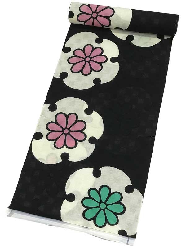 【綿麻 ゆかた反物】ViVi浴衣オーダーメイドでお仕立て可能ですViVi 高級 綿麻浴衣 反物【日本製】ブランドゆかた反物・変わり織りレディース・ジュニア・子ども用にも最適