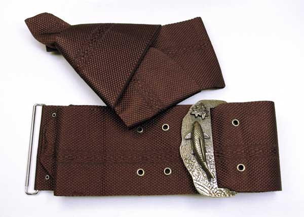 ワンタッチで着用出来る角帯です。お洒落なアクセサリー付き♪粋でお洒落な装いを演出します 【送料無料】~いなせ~ アクセサリー付きワンタッチ角帯