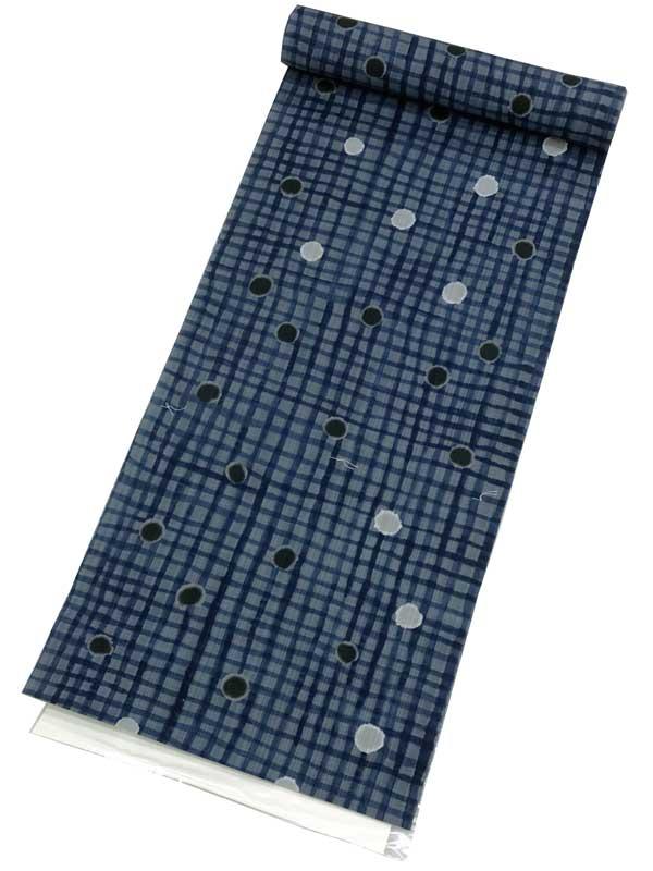 【綿麻 ゆかた反物】ツモリチサトオーダーメイドでお仕立て可能ですtsumori chisato 高級 綿麻ゆかた 反物【日本製】ブランドゆかた反物・変織キングサイズ 藍地メンズ・レディース・ジュニア・子ども用にも最適