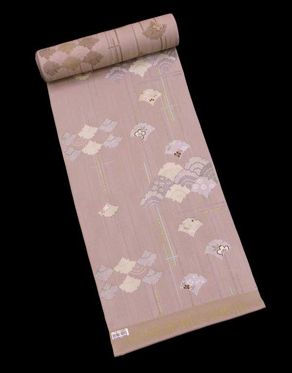 【特別企画商品】森英恵 ブランドHanae Mori 高級 正絹小紋 反物約50%OFFの大特価!! 【深伽羅色】《メーカー処分品》