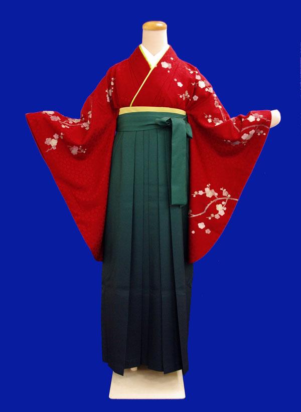 【往復送料無料】レンタルきもの赤色・2尺袖【1週間レンタル(6泊7日)】《レンタル用着物》