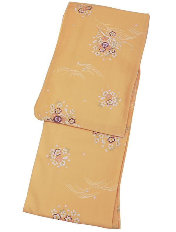 R.KIKUCHI 洗える着物(袷) Sサイズお仕立て上り 洗える着物【萱草色地】(赤みを帯びた黄色)
