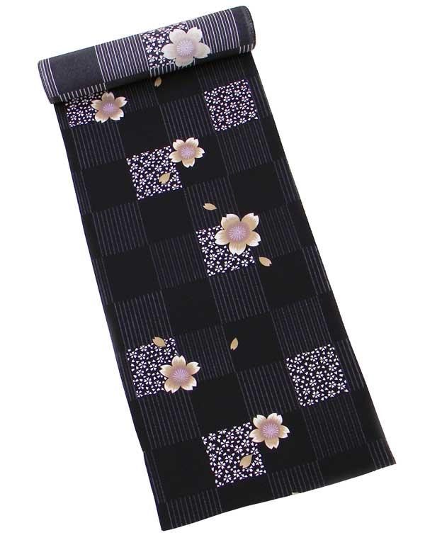 【特別企画商品】おしゃれ 高級 正絹小紋 反物絹100% ちりめん(黒地)