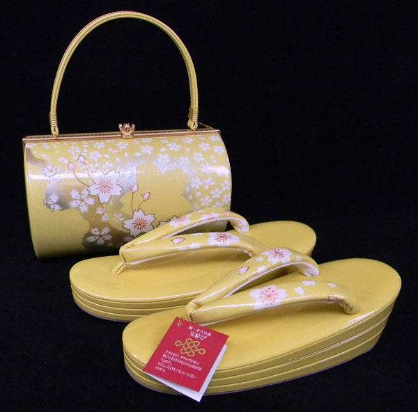 【送料無料】Lサイズ【同梱購入足袋プレゼント企画商品】高級草履バッグセット