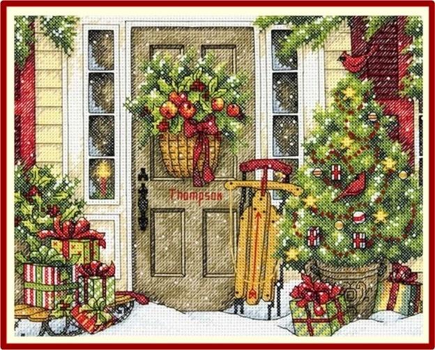 送料無料 人気 アメリカ 輸入キット クリスマス 初級 中級 おすすめ クロスステッチキット 初心者 ツリー Home Holidays Dimensions 激安 激安特価 ディメンショズ クリスマスの家 the お歳暮 ホリデーシーズン 冬 for