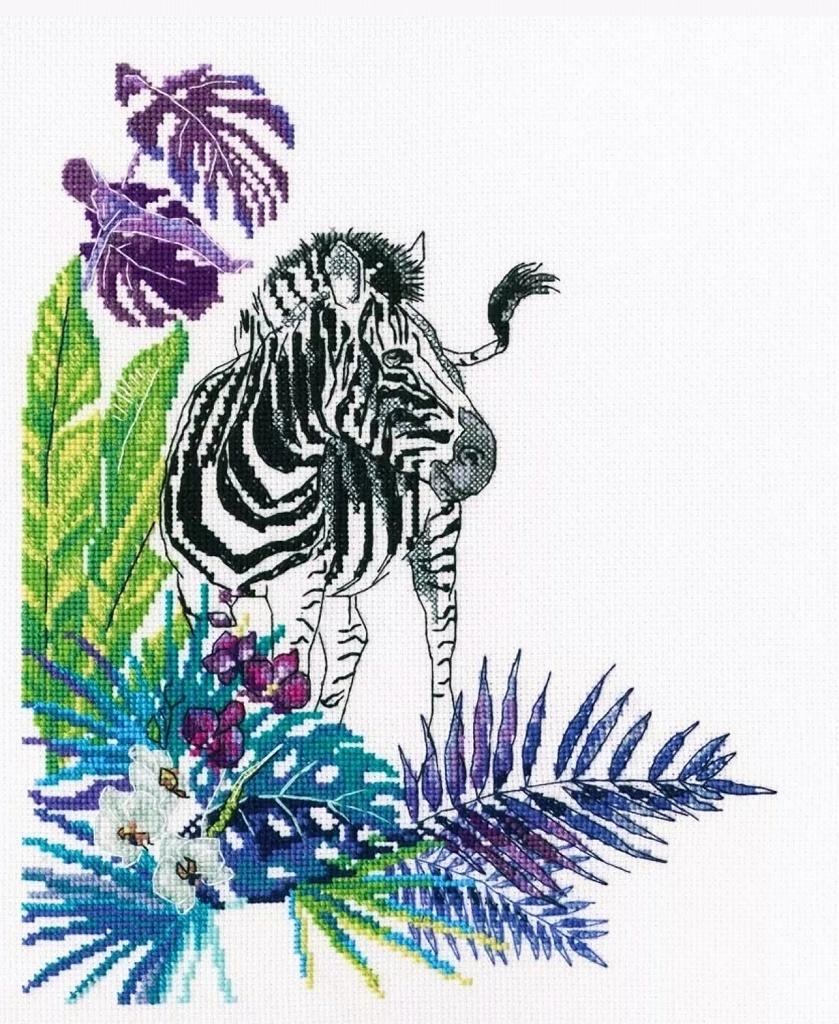 おしゃれ ロシア 大人気 ワイルド アニマルシリーズ レビューを書けば送料当店負担 野生動物 クロスステッチキット RTO ゼブラ 野生の世界 海外輸入 シマウマ 初心者 ジャングル 初級 刺繍キット 送料無料 手芸