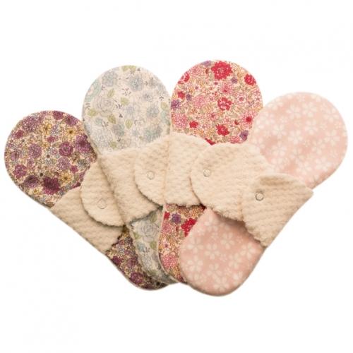 布ナプキン型 冷えとりライナー ヒエトリパット Silk《シルク&オーガニック》柄おまかせ4枚セット
