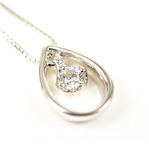 4℃ ヨンドシー K18WG ダイヤ ネックレス【美品】【送料無料】