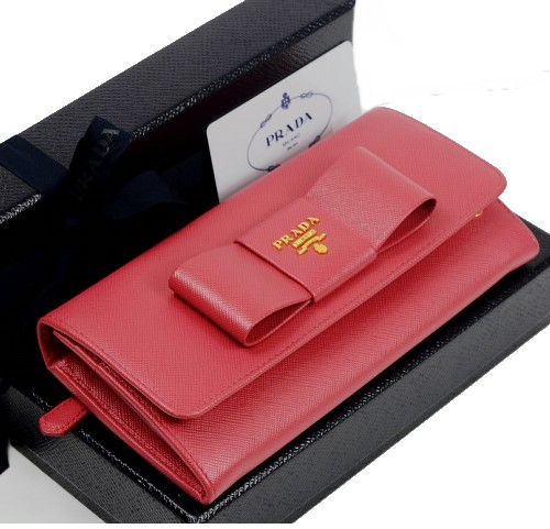 プラダ 財布 リボン 二つ折り長財布 1M1132 SAFFIANO FIOCCO【未使用品】【送料無料】
