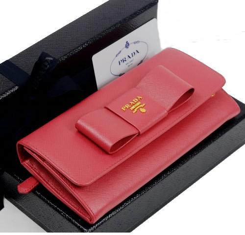 3d82271716269f Sakura Lounge Rakuten Ichiba Ten: Prada wallet ribbon folio long ...
