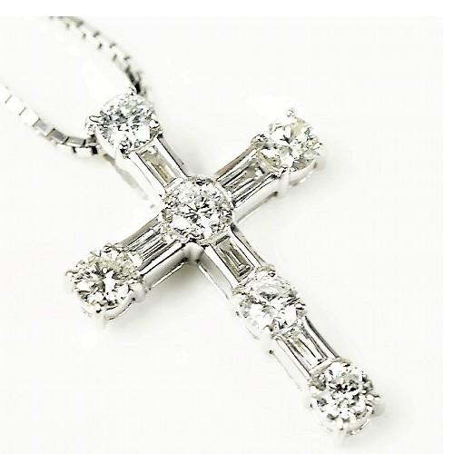 K18WG ダイヤ ネックレス 1カラット【美品】【送料無料】
