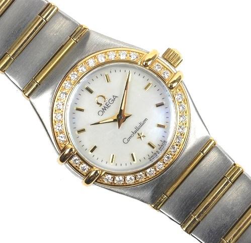 オメガ レディース 腕時計 コンステレーション ダイヤベゼル 1367.30【美品】【送料無料】