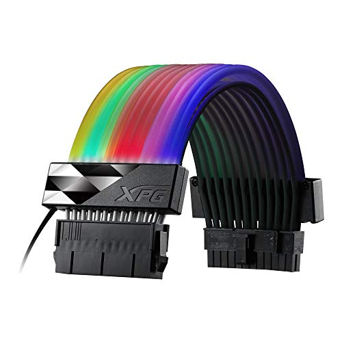 XPG PRIME ARGB EXTENSION 人気 おすすめ CABLE - お気にいる 36灯搭載 アドレッサブルRGB LED 24pin電源延長ケーブル ARGBEXCABLE-MB-BKCWW MB