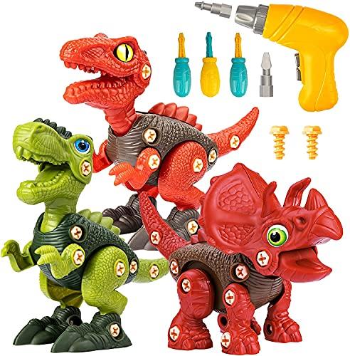 Funk Doggie 人気海外一番 激安格安割引情報満載 恐竜 おもちゃ 大工さんごっこおもちゃ電動ドリルおもちゃ 組み立ておもちゃ 贈り物 STEM知育玩具 入園お祝い 誕生日プレゼント DIY恐竜立体パズル