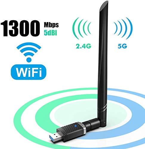 WiFi オープニング 大放出セール 無線LAN 子機 1300Mbps USB3.0 WIFIアダプター デュアルバンド 5G 2.4G 802.11 奉呈 AC 360°回転アンテナ 8 10.6-10.15 Windows 10 Vista Mac 高速通信5dBi XP 7 USBフラッシュドライブに対応
