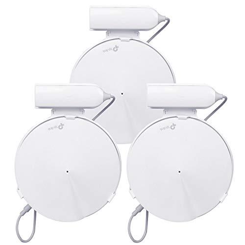 <title>Becrowm TP-Link 正規店 Deco M9 Plus WiFi 壁掛けホルダー 配線収納 壁掛けハンガー ネジいらずのマウント 簡単に取り付け 3個入</title>