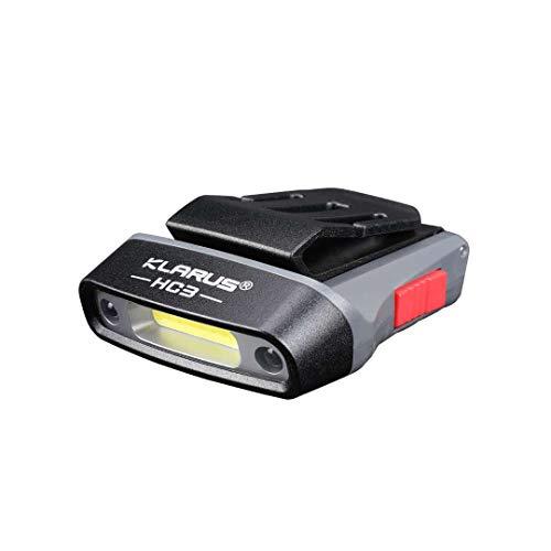 Klarus HC3 Max 低廉 100ルーメン LEDヘッドライト 充電式ヘルメットライト クリップ式 帽子ライト 0-180°角度調整可能 3段階切替 HC3グレー 新作からSALEアイテム等お得な商品満載 充電式キャップライト 防水性能IPX5