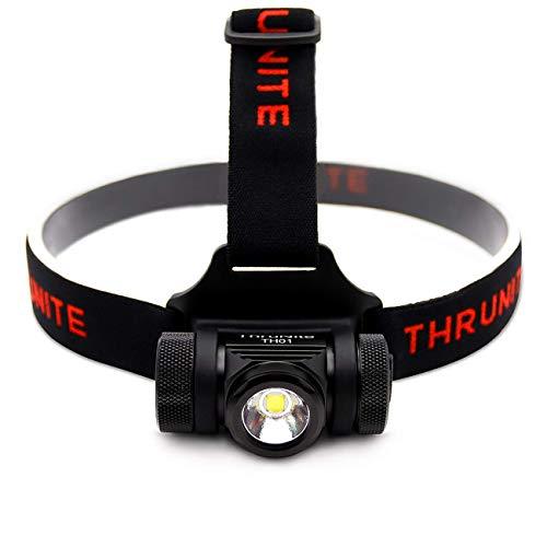 ThruNite TH01 ヘッドライト スーパーブライト 定番から日本未入荷 充電式LEDヘッドランプ 1100mAh 18350充電池使用 明るさ最大1500ルーメン 山登り 出荷 ハイキング CW 防災用 軽量 IPX-8防水 キャンプ